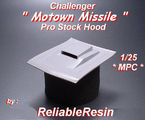 "Challenger ""Motown Missile"" Pro Stock Hood"