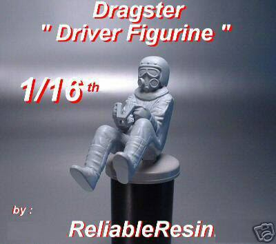 1/16th Dragster Driver Figurine