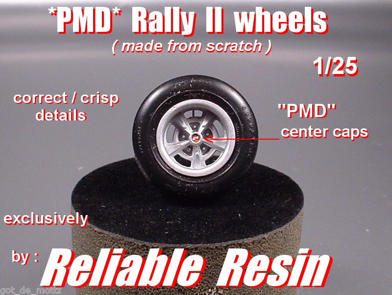 Pontiac Rally ll Wheels w/PMD Center Caps