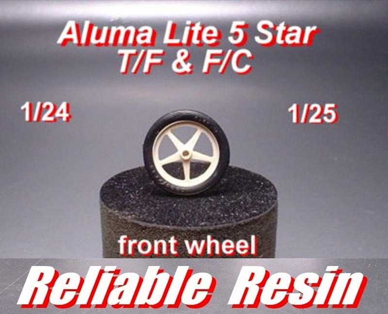 Aluma Lite 5 Star Weld Wheel & Tire T/F & F/C